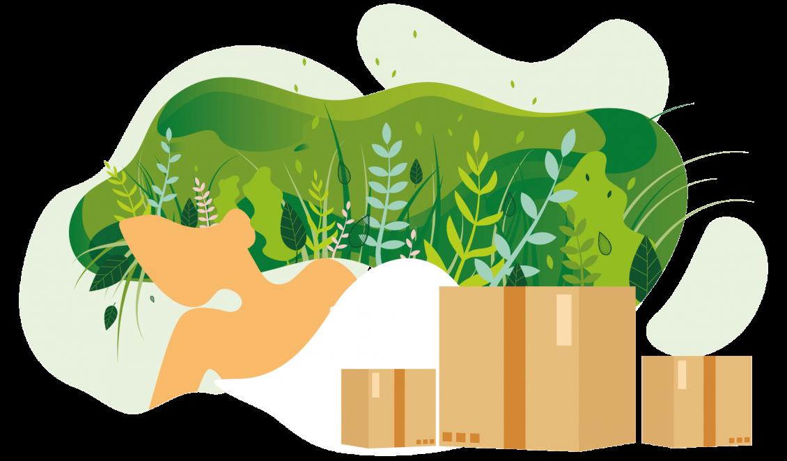 Concept Gratis duurzame verzenddozen en meer klanten